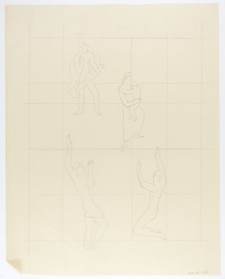 (Untitled--Mother and Child and Male Figures)
