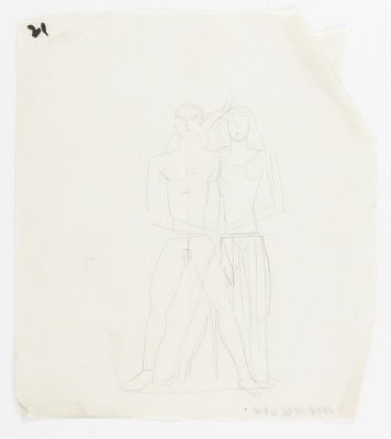 (Untitled--Standing Male and Female Figure Group)