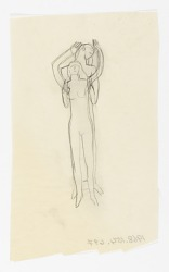 (Untitled--Male Figure Bracing Female Figure)