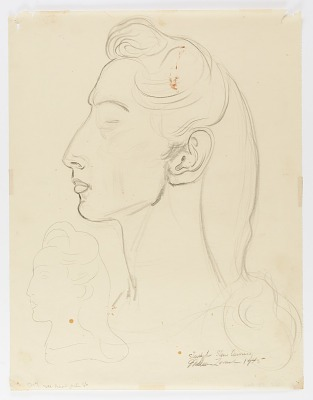 Gertrude (study for stone carving, Cleveland, Ohio)