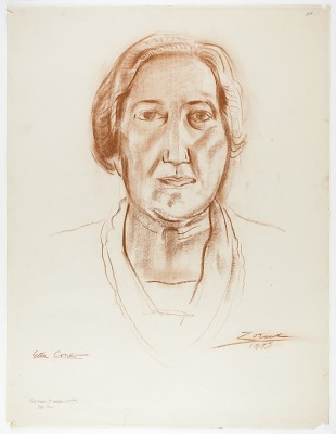 Etta Cone (study drawing for sculpture portrait, Baltimore Museum of Art)