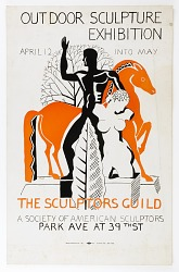 Poster for Outdoor Sculpture Exhibition, the Sculptors Guild