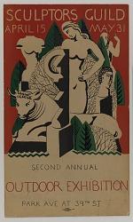 (Poster-Sculptors Guild Second Annual Outdoor Exhibition)