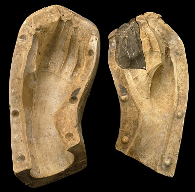 Mold of a Woman's Hand