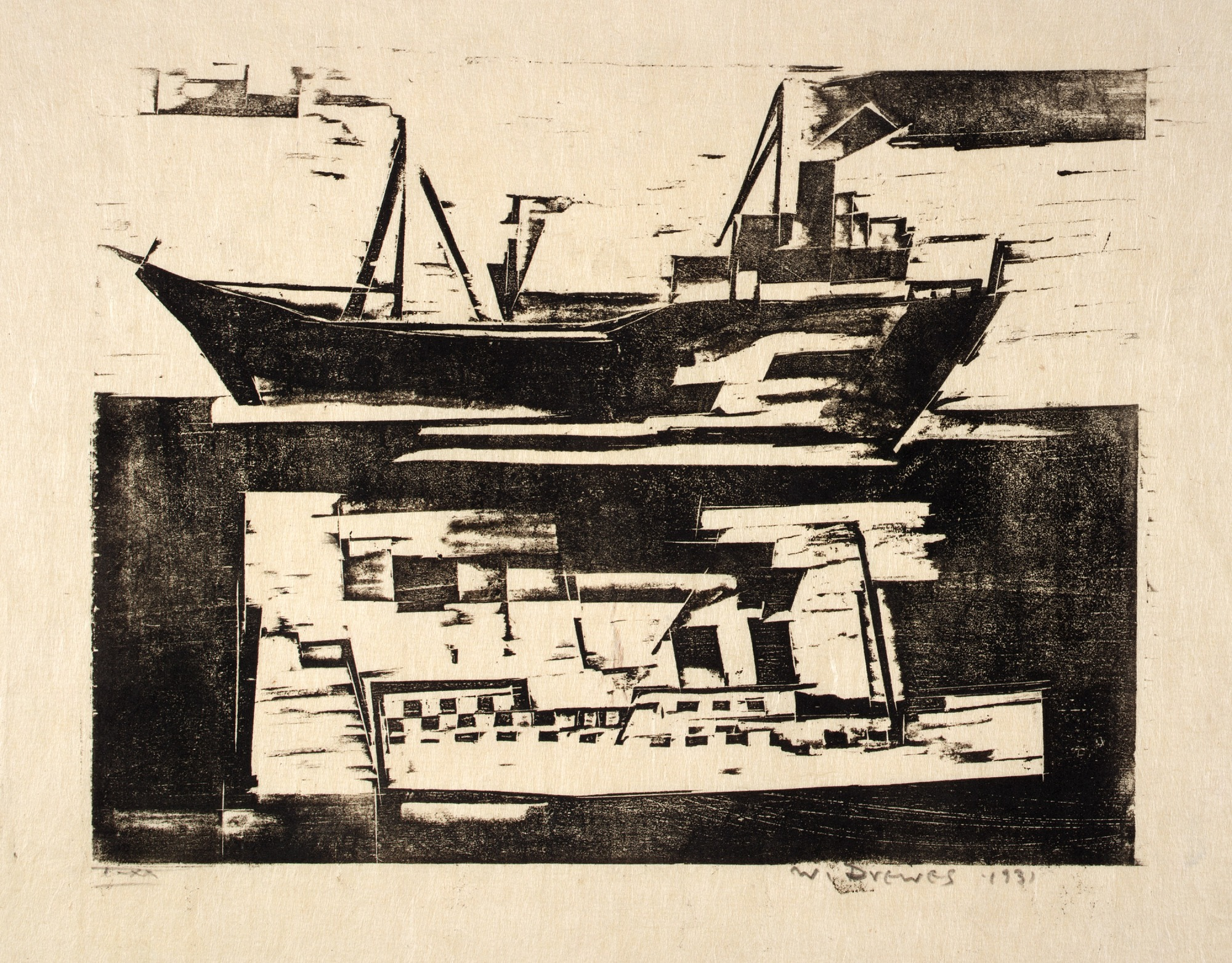 Black and White Steamboats