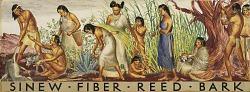 Sinew, Fiber, Reed, Bark (mural study)