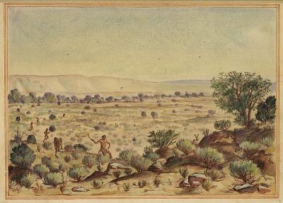 Men Hunting Rabbits