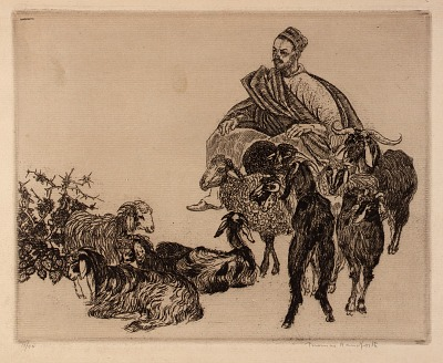 Untitled (Arab with Goats)
