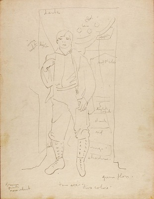 (Study for Painting of Tessim)