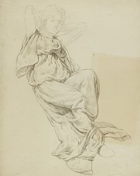 Untitled (Seated Classically Draped Female)