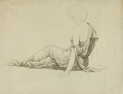 Untitled (Side View Seated Classically Draped Female)