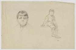 Untitled (Boy and Boy's Head)
