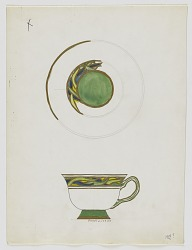 Design for a Cup and Saucer