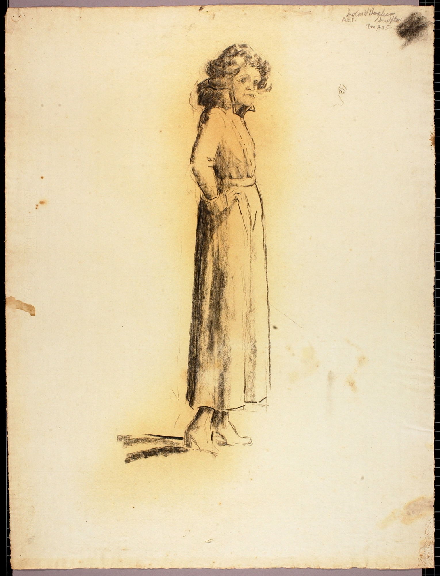Woman in Long Dress
