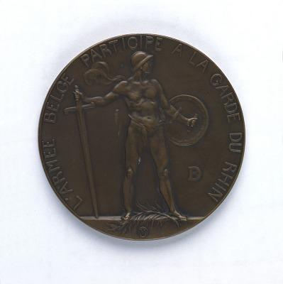 L' Armee Belge Participe a la Garde du Rhin, obverse