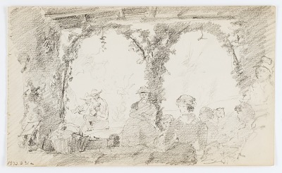 Untitled (Seated Figures and Musicians)