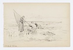 Untitled (Two Figures near a Boat)