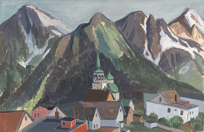 Russian Church and Three Mountains, Sitka