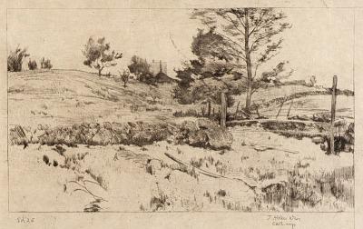 Landscape (Sketch of Fields)