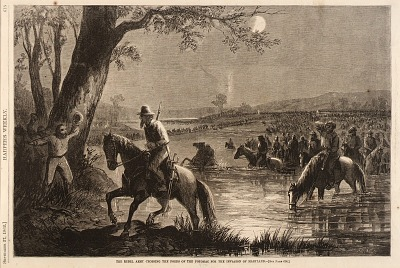 The Rebel Army Crossing the Fords of the Potomac for the Invasion of Maryland, from Harper's Weekly, September 27, 1862