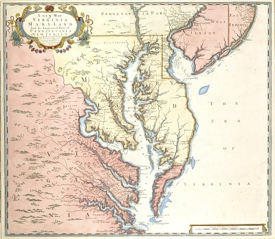 A New Map of Virginia and Maryland and the Improved Parts of Pennsylvania and New Jersey
