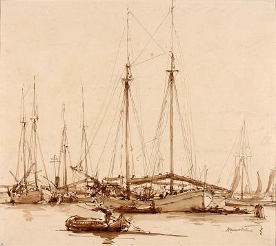 Greek Ships on the Giudecca Canal, Venice