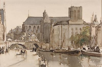 Ghent, Saint Michel, Evening