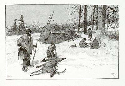 Indian Hunting Scene