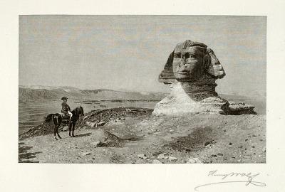 Napoleon before the Sphinx