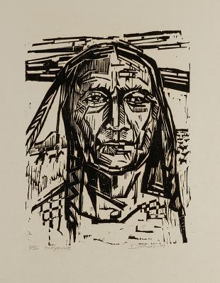 (American Indians, portfolio) Cheyenne