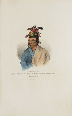 NAH-SHAW-A-GAA The White Dog's Son, Pottawatomie Chief, from The Aboriginal Portfolio