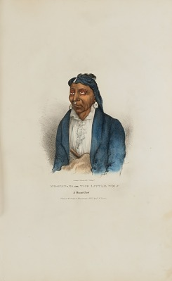 MO-WAN-ZA or The Little Wolf; A Miami Chief, from The Aboriginal Portfolio