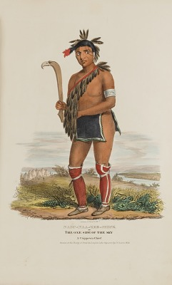 NABU-NAA-KEE-SHICK or The One Side of the Sky, A Chippewa Chief, from The Aboriginal Portfolio