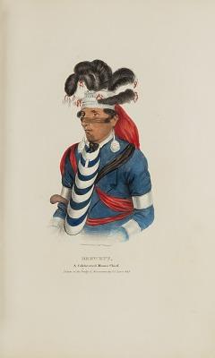BREWETT; A Celebrated Chief Miami Chief, from The Aboriginal Portfolio
