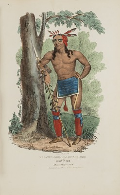 KAA-NUN-DER-WAAGUINSE-ZOO or the Berry Picker; A Famous Chippewa Chief, from The Aboriginal Portfolio
