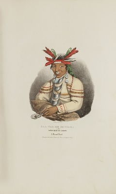 CAA-TAA-KE MUNG-GA or the Speckle'd Loon, A Miami Chief, from The Aboriginal Portfolio
