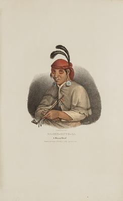 NA-SHE-MUNG-GA, A Miami Chief, from The Aboriginal Portfolio