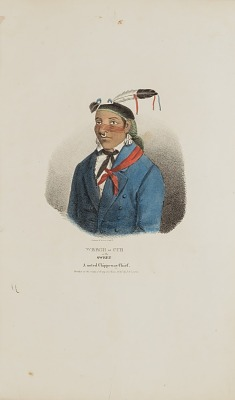 WEESH-CUB or the Sweet; A Noted Chippeway Chief, from The Aboriginal Portfolio