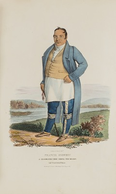 FRANCIS GODFROY; A Celebrated Chief Among the Miamis, from The Aboriginal Portfolio