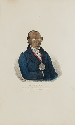 RICHARDVILLE; The Head Chief of the Miami Tribe of the Indians, from The Aboriginal Portfolio