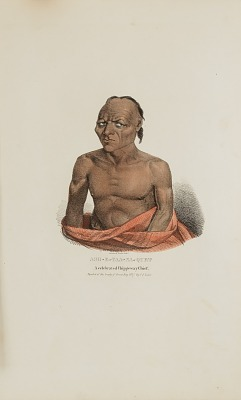 ASH-E-TAA-NA-QUET; A Celebrated Chippeway Chief, from The Aboriginal Portfolio