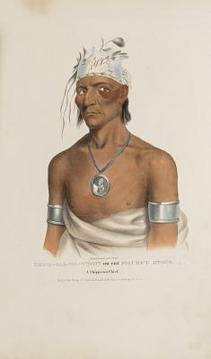 SHING-GAA-BA-W'OSIN or the Figure's Stone; Chippewa Chief, from The Aboriginal Portfolio