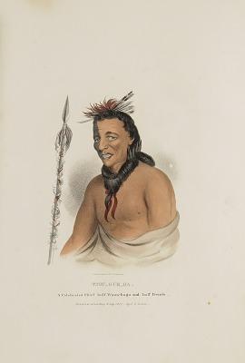 TSHU-GU-GA; A Celebrated Chief half Winnebago and half French, from The Aboriginal Portfolio