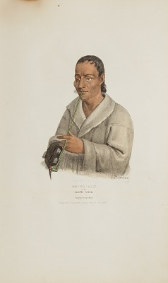 KE-WA-DIN or the North Wind; A Chippeway Chief, from The Aboriginal Portfolio