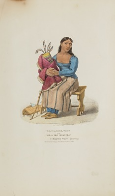 TA-MA-KAKE-TOKE or the Woman that Spoke First; A Chippeway Squaw (mourning), from The Aboriginal Portfolio