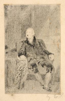 Seated Man in Eighteenth Century Dress