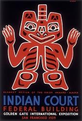 Blanket Design of the Haida Indians, Alaska
