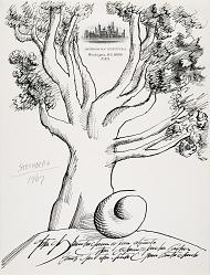Saul Steinberg Smithsonian Letterhead Doodles