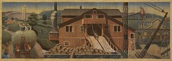Lumbering in Arkansas (mural study, Siloam Springs, Arkansas Post Office)