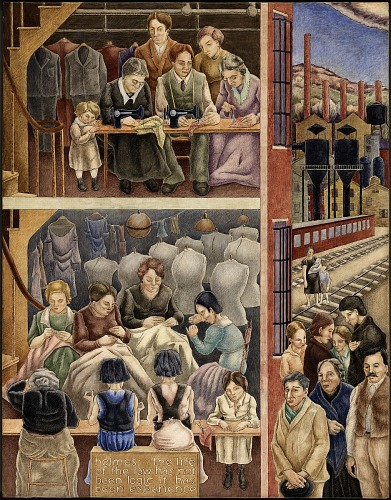 Mural, <i>Sweatshop</i> by George Biddle